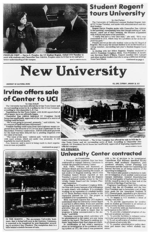 New university (Irvine, Calif.) Vol. 09, No. 27