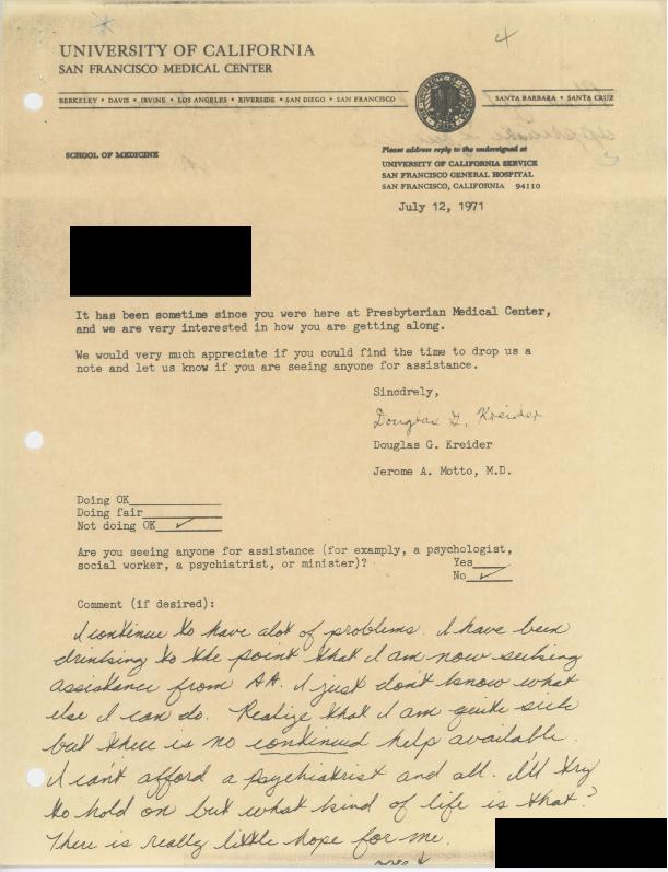 Patient letter