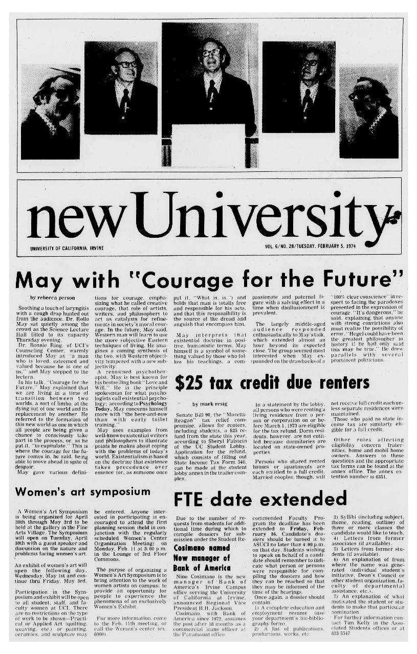 New university (Irvine, Calif.) Vol. 06, No. 28