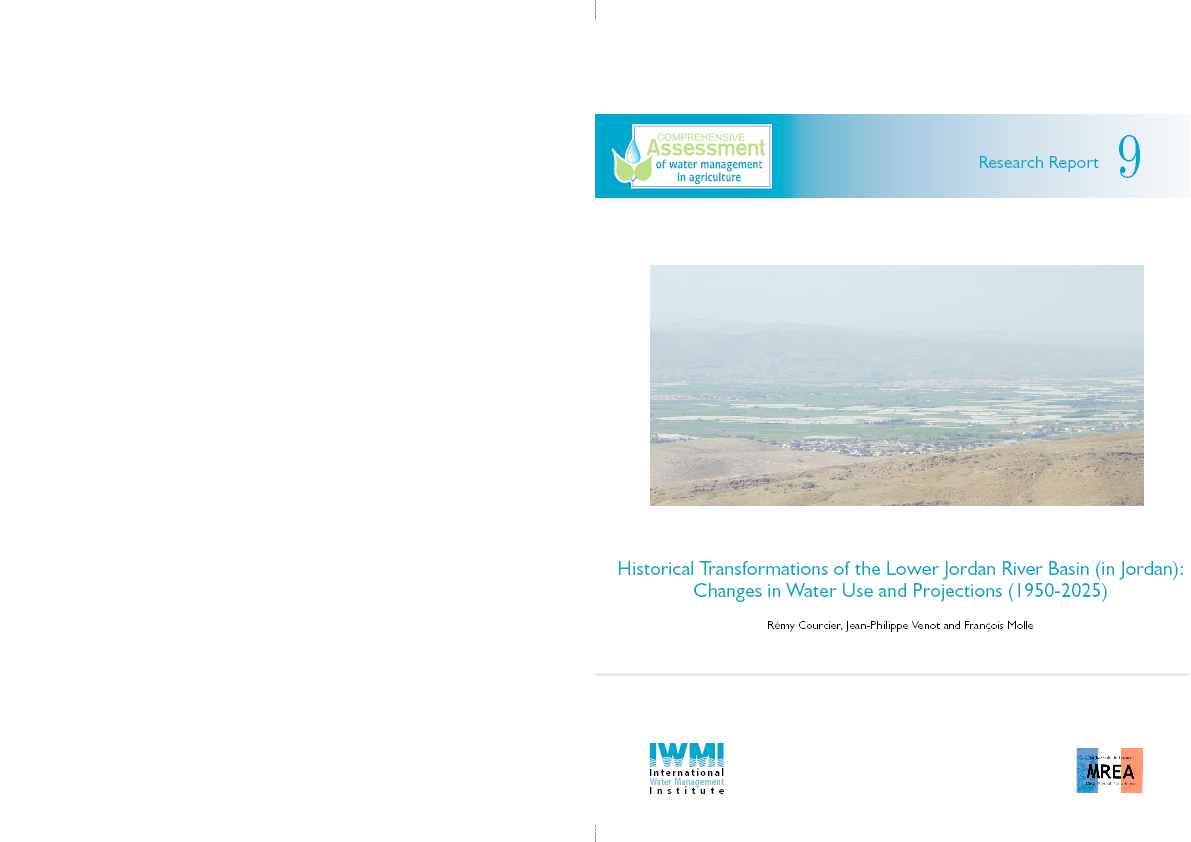 Historical transformations of the Lower Jordan River Basin changes in water use and projections (1950-2025)