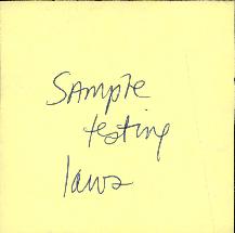 Sample Testing Laws