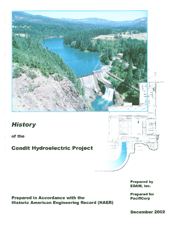 History of the Condit Hydroelectric project