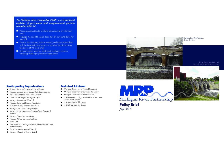 Michigan River Partnership Policy Brief