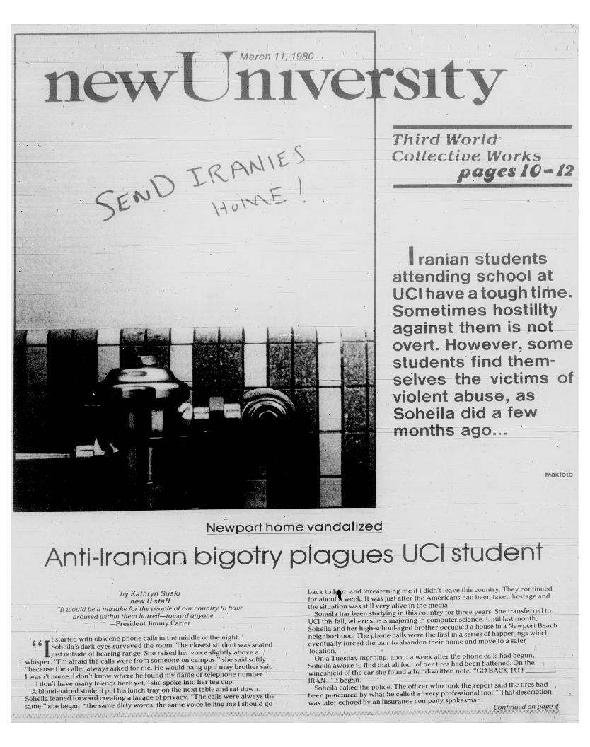 New university (Irvine, Calif.) Vol. 12, No. 21