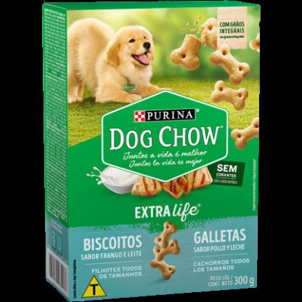 Petisco Dog Chow 300 Gr Fgo/leit Filhote