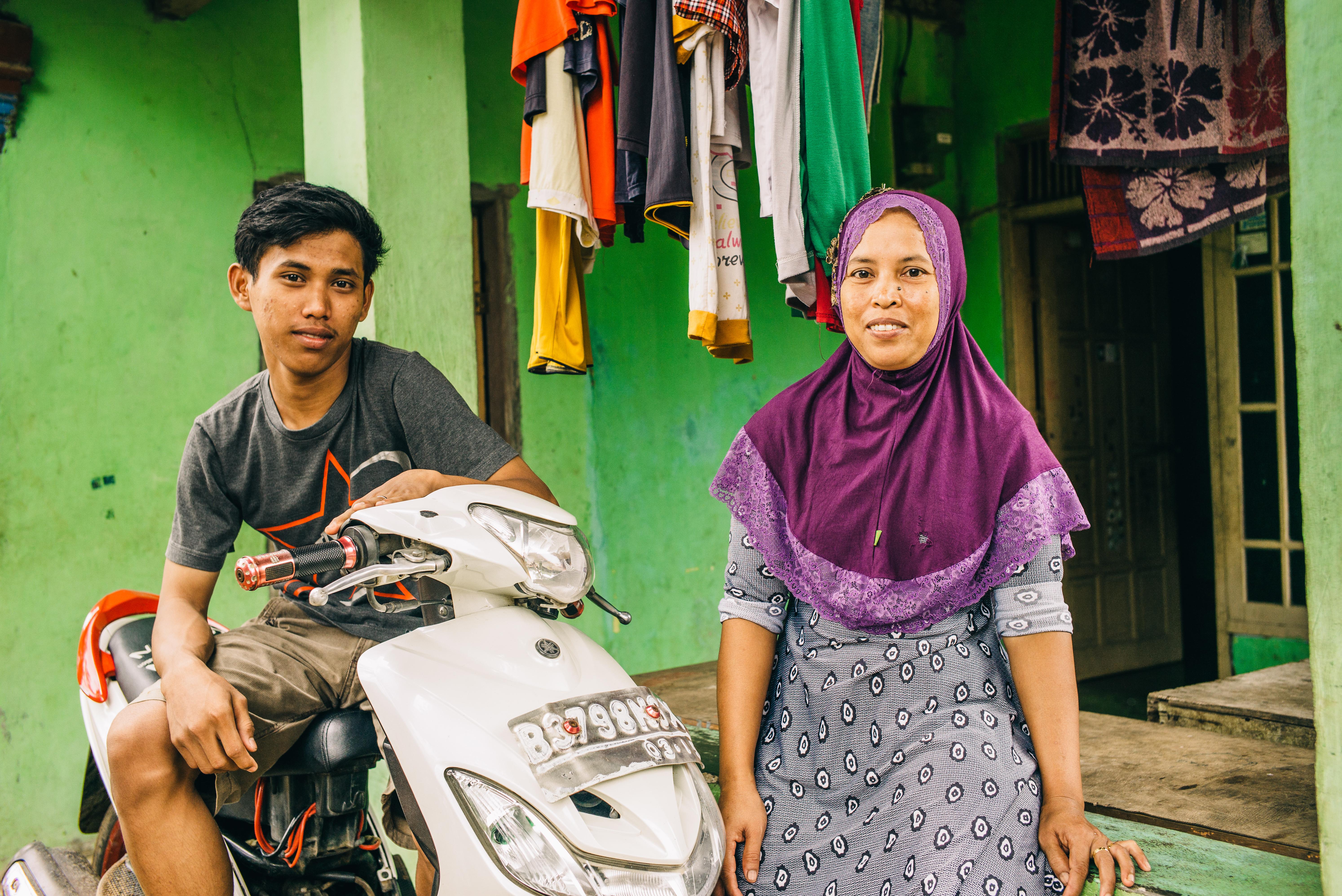Boy & woman in Indonesia