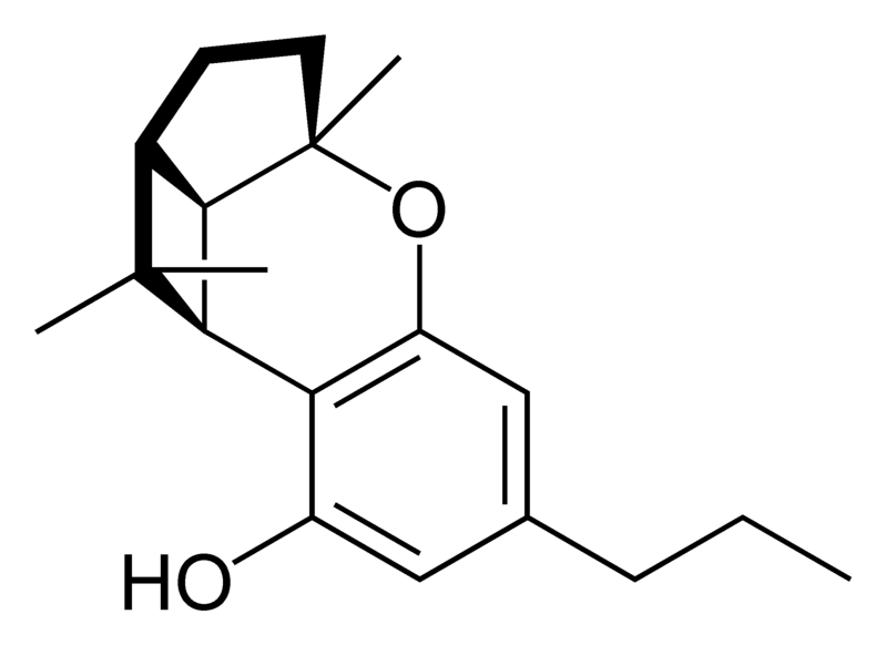 Chemical structure of cannabicyclovarin.