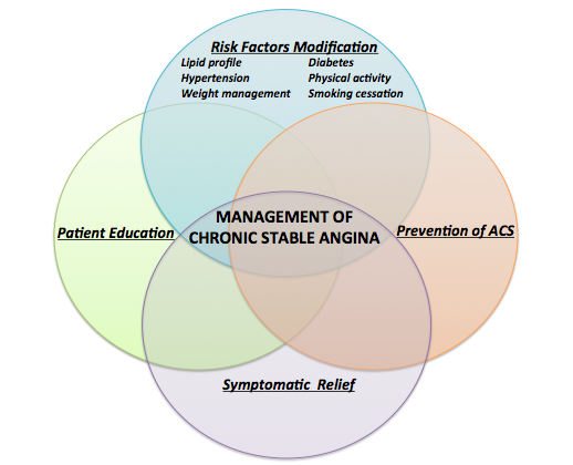 Management plan for chronic stable angina.