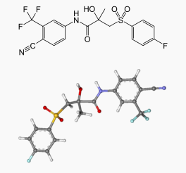Bicalutamide chemical structure 2.png