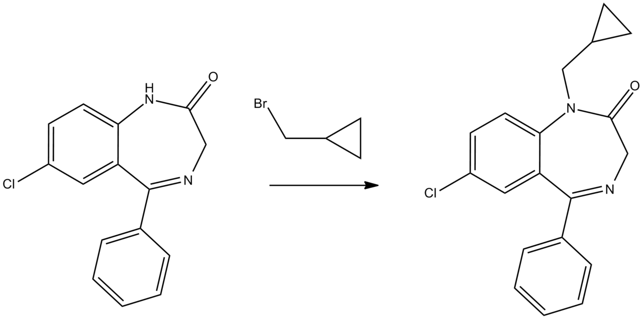 Prazepam synthesis 2.png