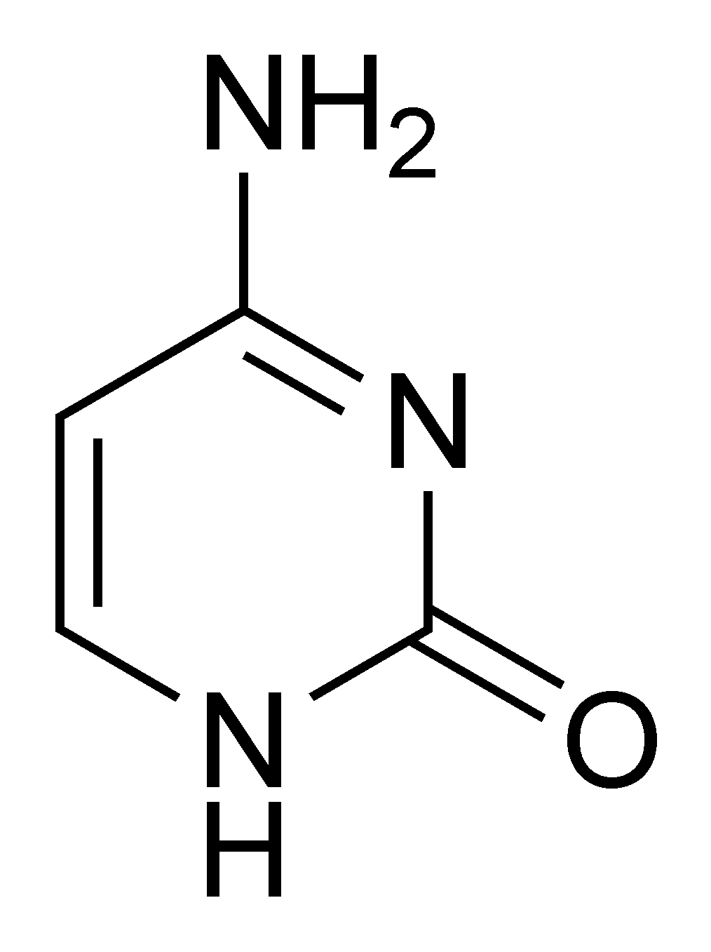 Chemical structure of cytosine