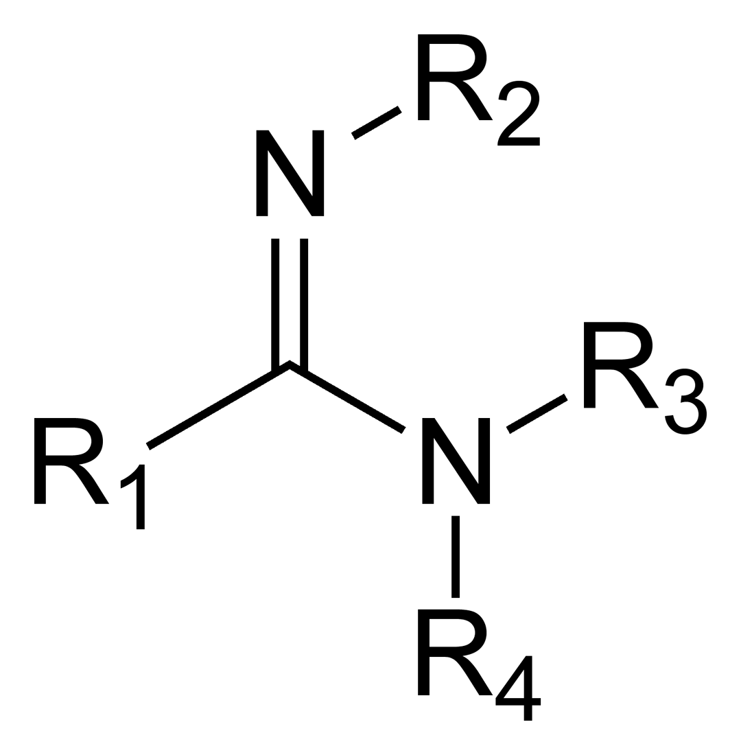 The general structure of a carboxamidine