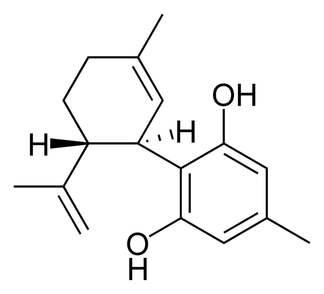 Chemical structure of cannabidiorcol.
