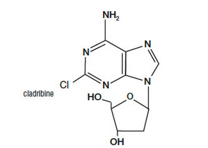 Cladribine Chemical structure.png