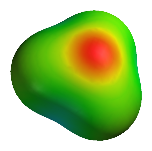 3D electric potential surface of the hydroxonium cation