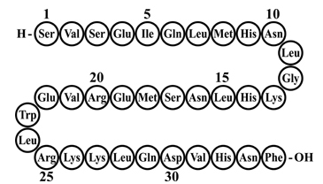 Teriparatide animo acid sequence.png