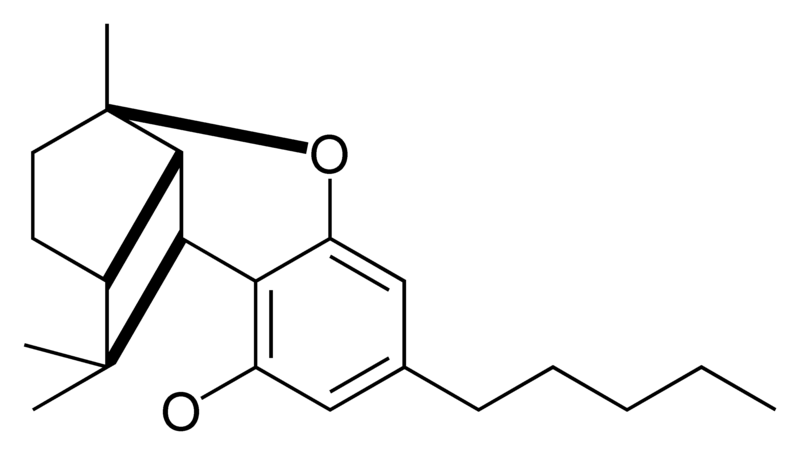 Chemical structure of the CBL-type cyclization of cannabinoids.