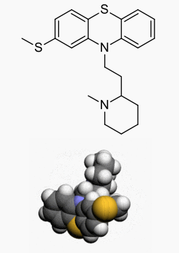 Thioridazine hydrochloride structural formula.png