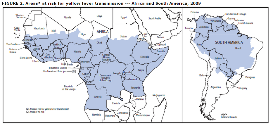 Yellow fever risk factors - wikidoc on