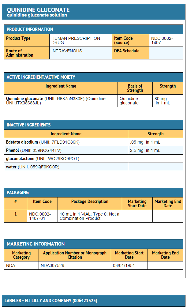 Quinidine gluconate (injection) - wikidoc