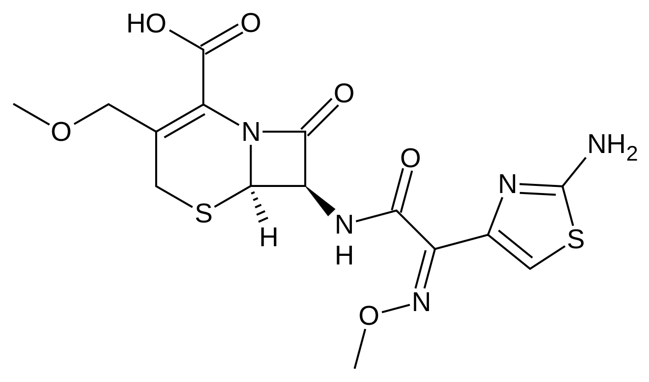 Cefpodoxime structure.png