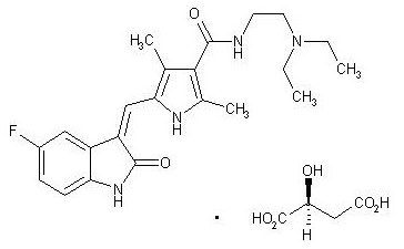 Sunitininb malate chemical structure.png