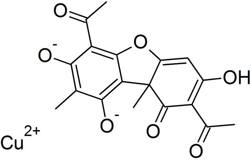 Structure of Copper usnate.png