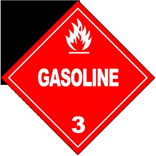 Class 3: Gasoline (Alternate Placard)