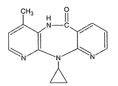 Nevirapine structural formula.png
