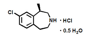 Lorcaserin chemical structure (2).png
