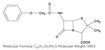 Phenoxymethylpenicillin structural formula.png