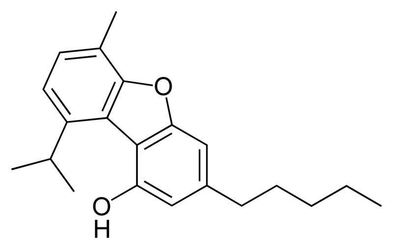 Chemical structure of cannabifuran.