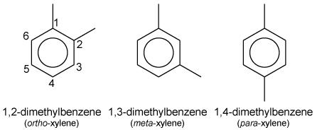 The xylene isomers
