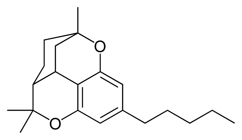 Chemical structure of cannabicitran.