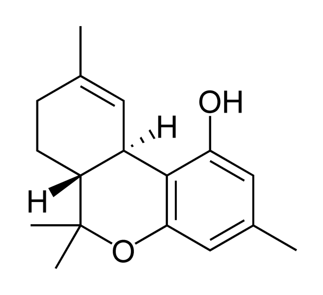 Chemical structure of tetrahydrocannabiorcol.
