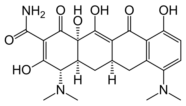 Minocycline structure.png