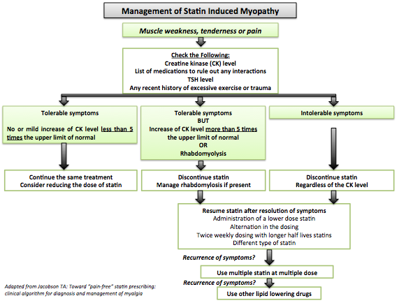 Statin induced myopathy medical therapy