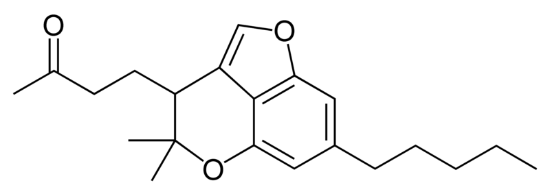Chemical structure of cannabicoumaronone.