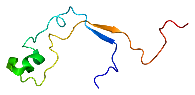 Structure of the MLL protein. Based on PyMOL rendering of PDB 2j2s.