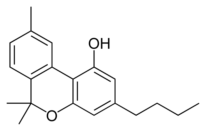Chemical structure of cannabinol-C4