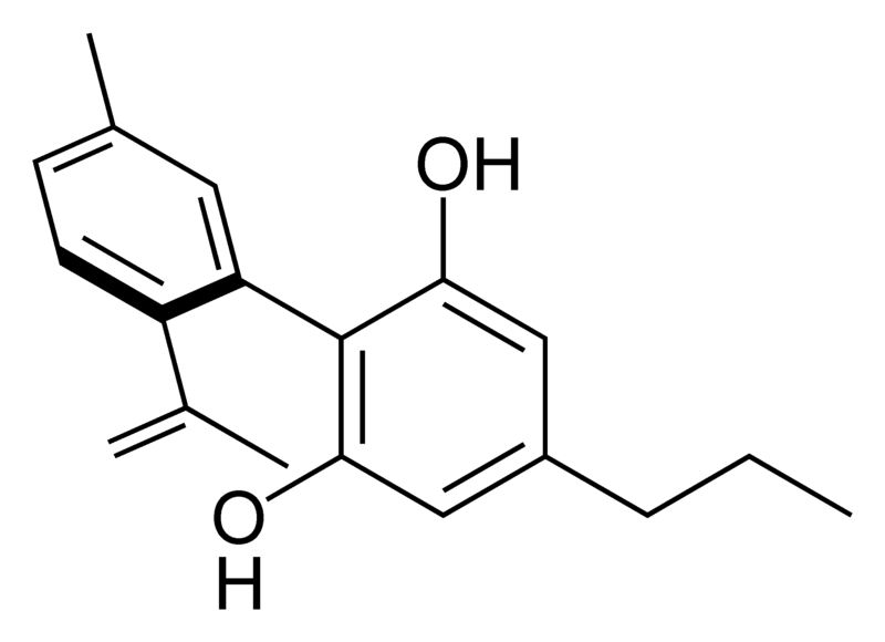 Chemical structure of cannabinodivarin.