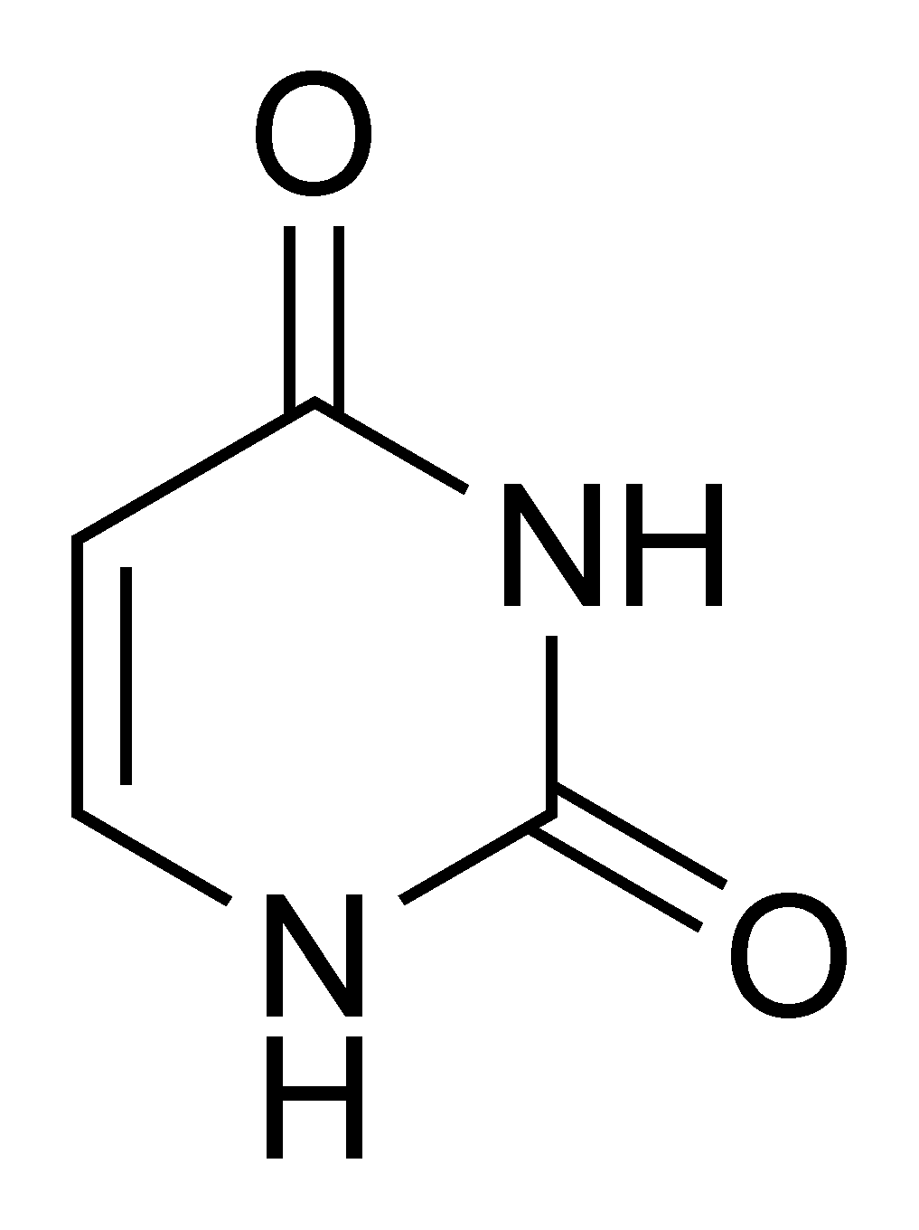 Uracil chemical structure.png