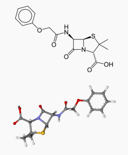 Phenoxymethylpenicillin structure.png