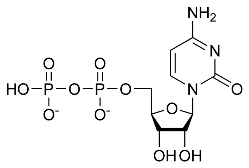 Chemical structure of cytidine diphosphate