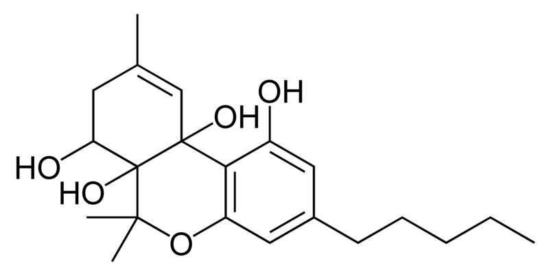 Chemical structure of cannabitetrol.