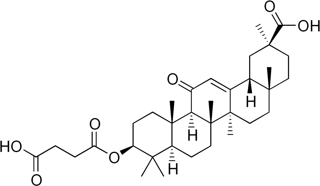 Skeletal formula of carbenoxolone