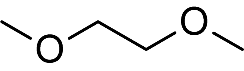 Chemical structure of dimethoxyethane