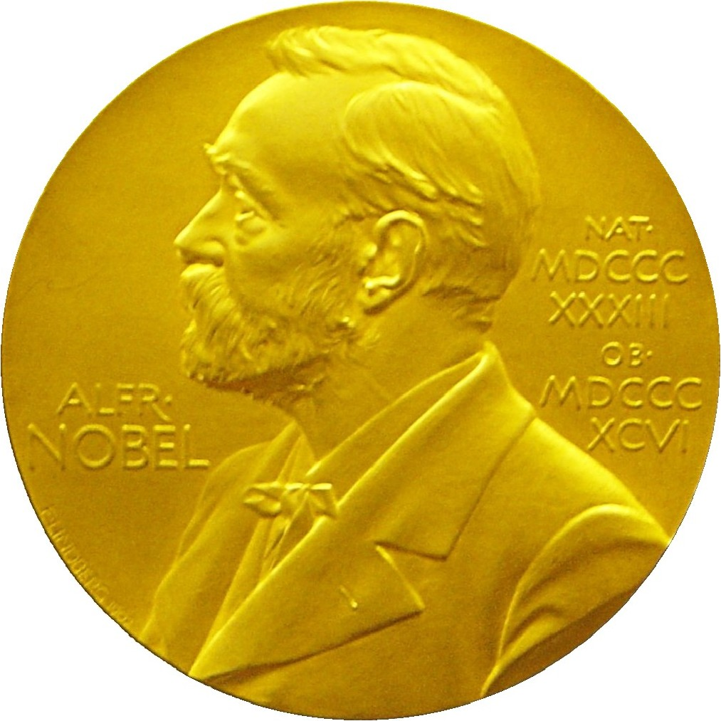 Front side of the Nobel Prize® Medal for Physics presented to Edward Victor Appleton in 1947; Appleton Tower, University of Edinburgh, 2005.