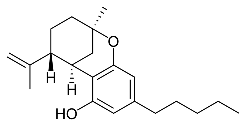 Chemical structure of delta-7-trans-isotetrahydrocannabinol.