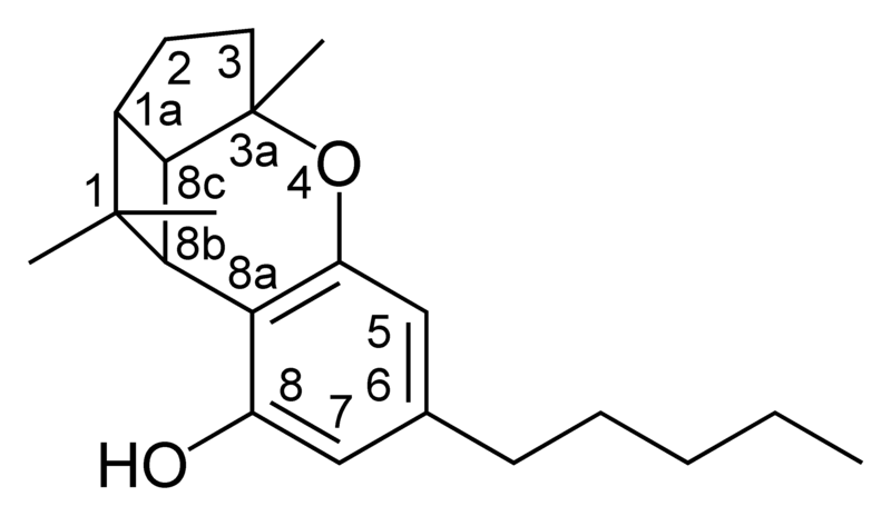 Chemical structure of a CBL-type cannabinoid.